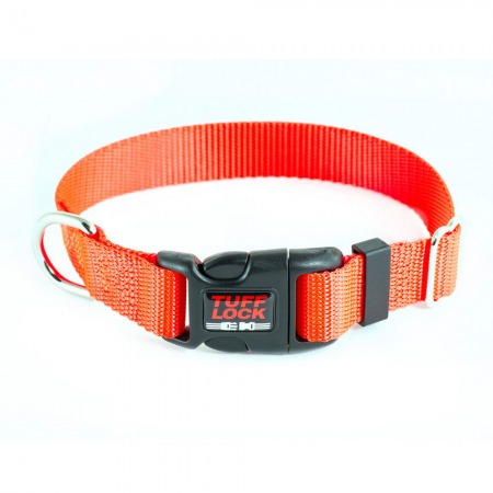 Premium TuffLock - Plastic Buckle Dog Collar - 04001.BRIGHTORANGE.MAIN_resize