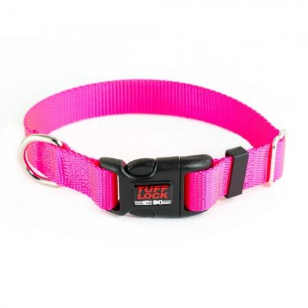 Premium TuffLock - Plastic Buckle Dog Collar - 04001.BRIGHTPINK.MAIN_resize