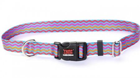 Tufflock NYLON Dog Collar SUNFLOWERS Plastic OR Metal Buckle MADE IN USA