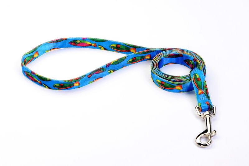 Buy 6 foot fish dog leash at premium tufflock for Fish on a leash