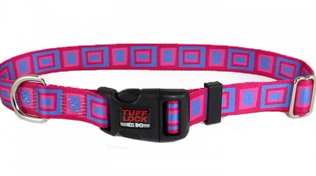 Plastic Buckle Dog Collar - Boxy Pink