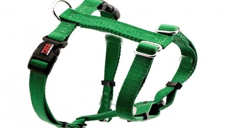 Premium Tuff Lock Cat Harness - green_figure-h_harness