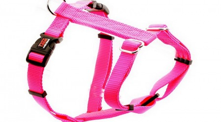 Premium Tuff Lock Cat Harness - pink_figure-h_harness