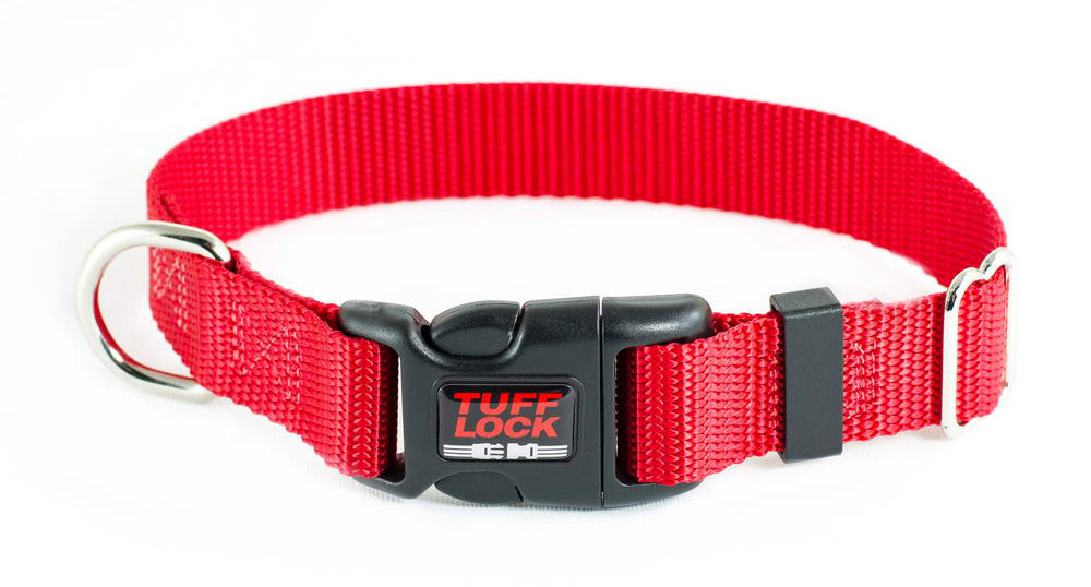 Premium TuffLock - Plastic Buckle Dog Collar - RED
